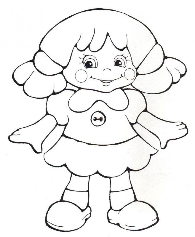 Игра раскраска куклы