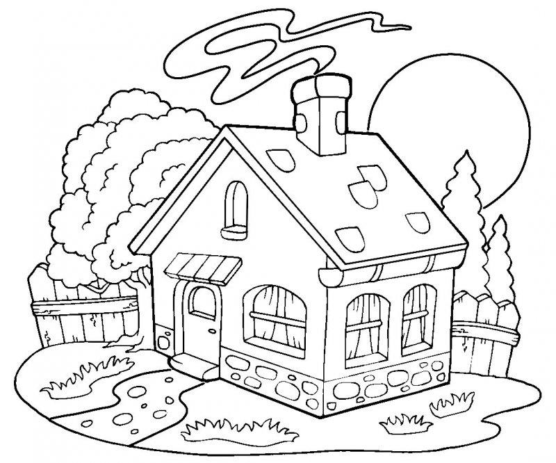 Раскраски сказочных домиков
