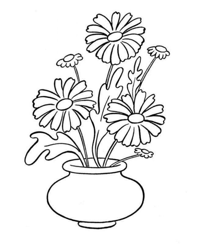 Раскраска ваза - 8872