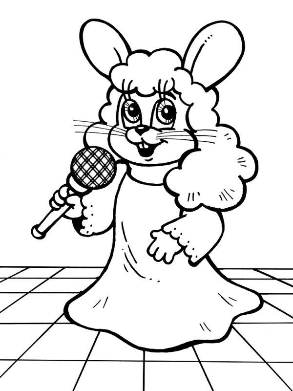 Черно белые картинки зайца 3