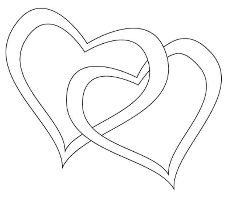 Раскраска сердечки детская.