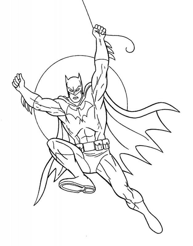Бэтмен раскраска картинки