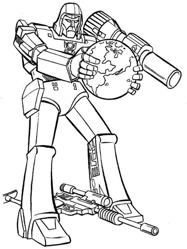 раскраска онлайн для мальчиков робот