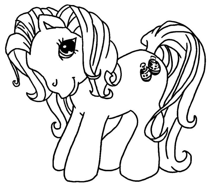 Раскраска для мальчиков лошадка