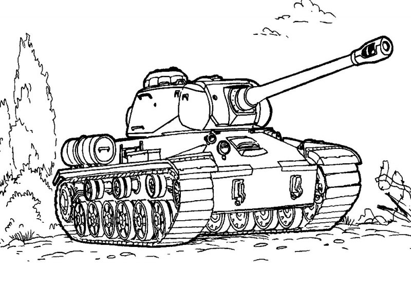 Раскраска танк: raskras-sam.ru/15-raskraska-tank.html