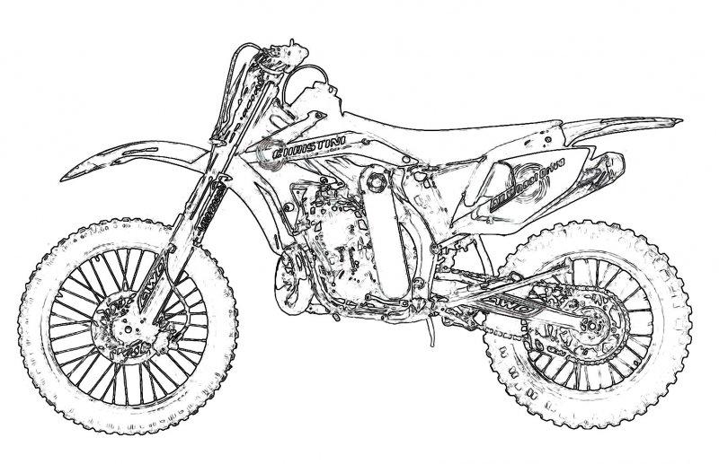 Раскраски для мальчиков мотоциклы - 3