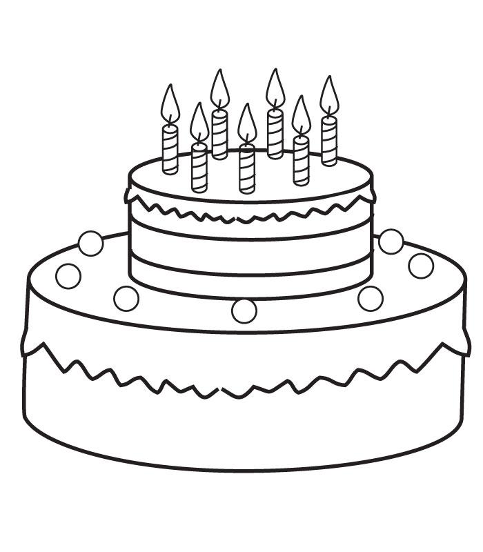 Распечатать раскраски тортик