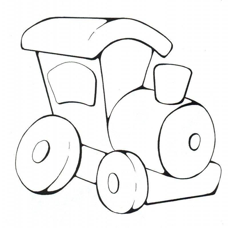 Онлайн раскраски для детей 3-4 лет машинки